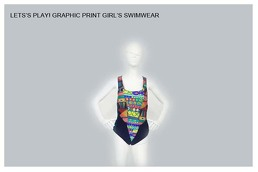 Graphic Print Girl's Swimwear