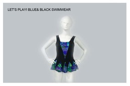 Blue and Black Swimwear