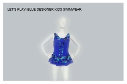 Blue Designer Kids Swimwear