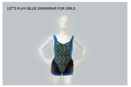 Blue Swimwear For Girls